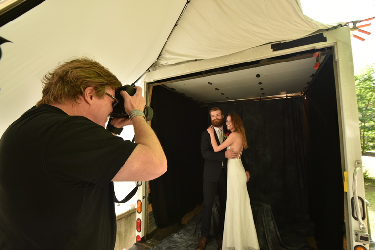 This Truck Was Converted Into a Professional Wedding Portrait Studio
